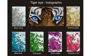 GLITTER HOLOGRAPHIC TIGER EYE